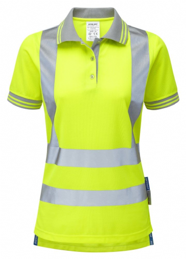 Pulsar P700 Ladies Short Sleeve Polo Shirt (High Vis Yellow)